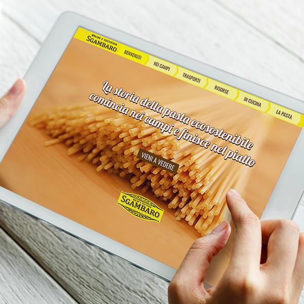 Un sito internet racconta la filiera sostenibile della pasta Sgambaro